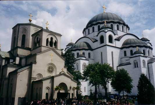 Храм Святителя Саввы Сербского в Белграде, май 2004г.